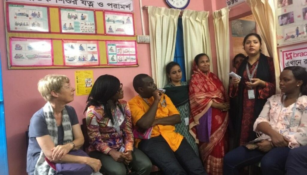 ARISE visiting the Korail health centre