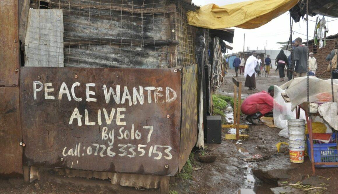 Election violence graffiti in Kibera