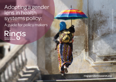 Adopting a gender lens in health systems research